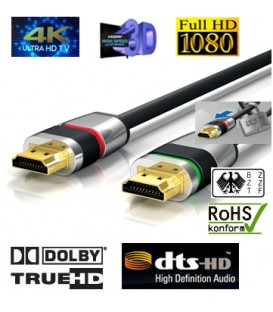4K HDMI-Kabel , ULTRA-LOCK-SYSTEM™ 3m