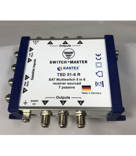 Switch Master 1 Sat - 6 Teilnehmer Multischalter 5/6 HDTV Made in Germany