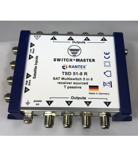 Switch Master 1 Sat - 8 Teilnehmer Multischalter 5/8 HDTV/UHD Made in Germany