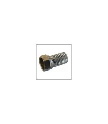F-Stecker, breite Mutter, Kabel-Ø: 7,0 mm