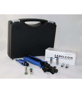 CABELCON Kompression F-Stecker Komplettes Set