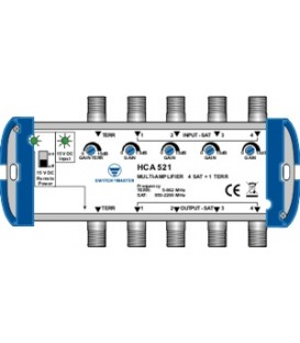Switch Master HCA 521, 5 x Multi-Line Verstärker 20dB