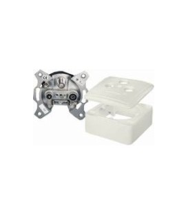 SET 3 Output end wall socket 1dB/75Ohm SAT/TV/RADIO 5-2400MHz