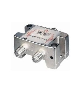 2-Fach Verteiler 5-2500MHz Digitaltauglich DC an einem Anschluss