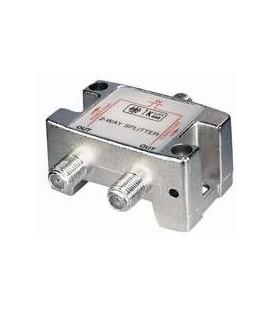 2-Fach Verteiler 5-2500MHz Digitaltauglich DC an alle Anschlüsse
